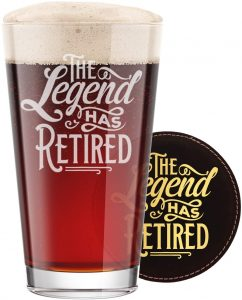 The Legend Has Retired Glass