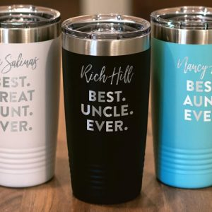 Best Aunt and Uncle Ever Tumbler