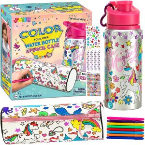 Decorate your own water bottle set