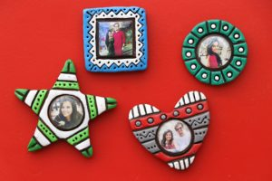 Surprise her with handmade memory magnets-